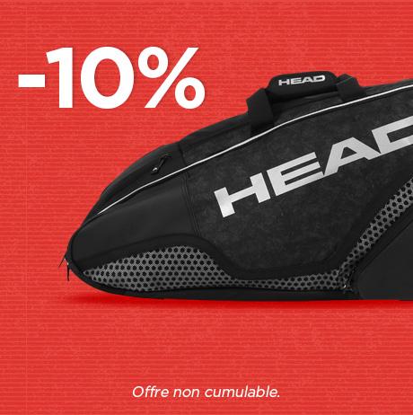 -10% sur les sacs Head, code HEAD10