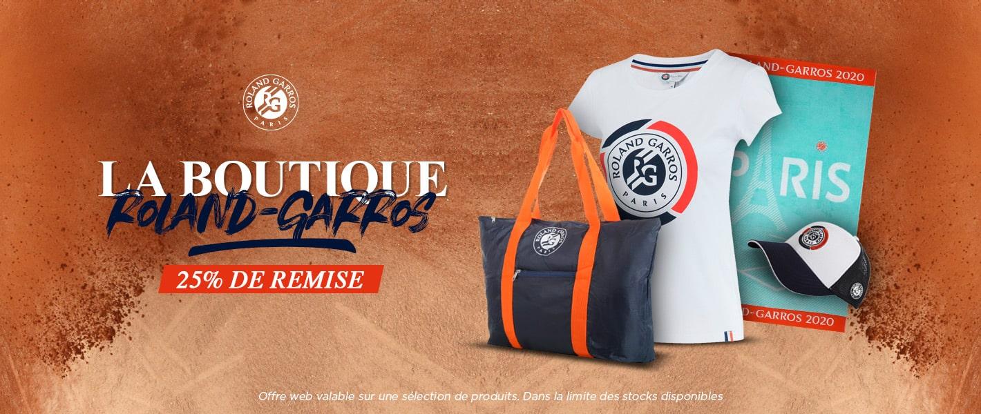 Offre spéciale produits Roland Garros