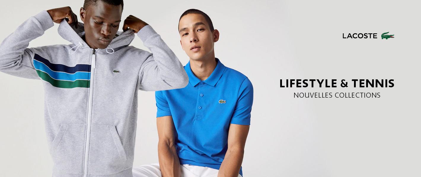 Vêtements Lacoste nouvelles collections Lifestyle et tennis