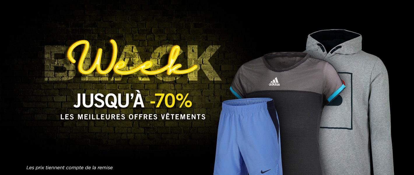 -70 % vêtements junior - Black week Tennis Achat