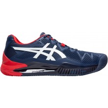 Chaussures Asics Gel Resolution 8 Terre Battue Marines
