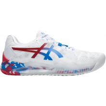 Chaussures Asics Gel Resolution 8 Retro Tokyo Toutes Surfaces Blanches