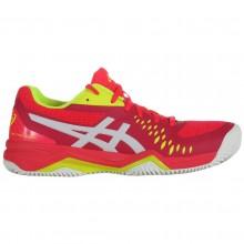 Chaussures Asics femme Gel Challenger 12 Terre Battue Rouges