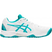 Chaussures Asics Junior Gel Resolution 8 GS Toutes Surfaces Blanches