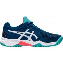 Chaussures Asics Junior Gel Resolution 8 GS Toutes Surfaces Bleues