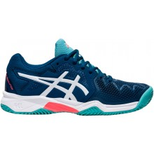 Chaussures Asics Junior Gel Resolution 8 GS Terre Battue Bleues