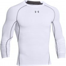 Tee-Shirt Manches Longues Compression Under Armour Blanc