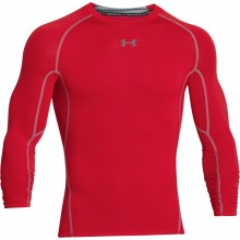 Tee-Shirt Manches Longues Compression Under Armour Rouge