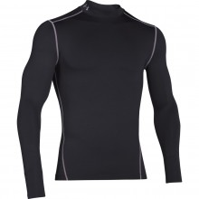 Tee-Shirt Col Roulé Under Armour Manches Longues Coldgear Noir