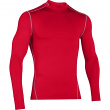 Tee-Shirt Col Roulé Under Armour Manches Longues Coldgear Rouge