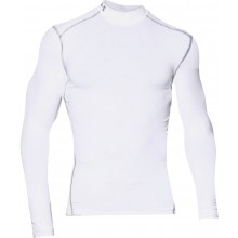 Tee-Shirt Col Roulé Under Armour Manches Longues Coldgear Blanc