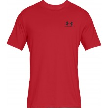 Tee-Shirt Under Armour Sportstyle Left Chest Rouge