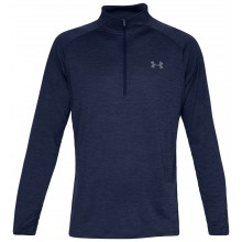 Tee-Shirt Under Armour tech 1/2 Zippé Manches Longues Marine