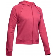 Sweat À Capuche Under Armour Zippé Femme Rival Fleece Rose