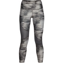 Collant Under Armour Femme Crop Print HeatGear Gris