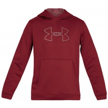 Sweat Under Armour A Capuche Performance Fleece Graphic Bordeaux