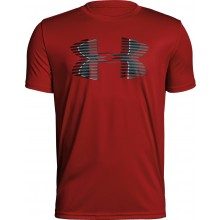 Tee-Shirt Under Armour Junior Tech Big Logo Solid Rouge