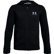 Sweat Under Armour Junior Cotton Fleece Noir