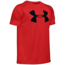 Tee-Shirt Under Armour Junior Tech Big Logo Rouge