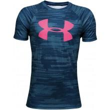 Tee-Shirt Under Armour Junior Garçon Big Logo Printed SS Bleu