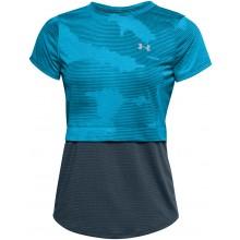 Tee-Shirt Under Armour Femme Streaker 2.0 Bleu