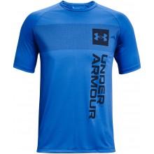 Tee-Shirt Under Armour Tech 2.0 Vert Wordmark Bleu