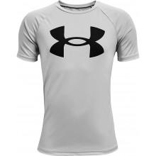 Tee-Shirt Under Armour Junior Garçon Tech Big Logo Gris