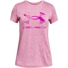 Tee-Shirt Under Armour Junior Fille Graphic Twist Big Logo Rose
