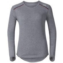 Tee-Shirt Manches Longues Odlo Femme Warm Vallee Blanche Gris
