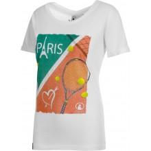 Tee-Shirt Quiet Please Femme Paris Blanc