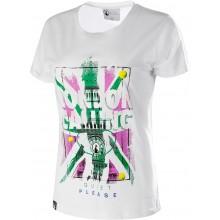Tee-Shirt Quiet Please Femme London Calling Blanc