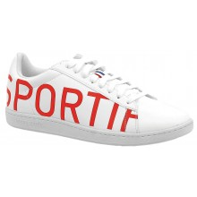 Chaussures Le Coq Sportif Courtset Blanches