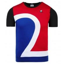Tee-Shirt Le Coq Sportif Junior Tricolore Noir