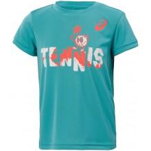 Tee-Shirt Asics Junior Tennis Graphic Bleu