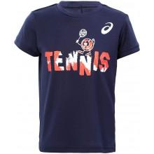 Tee-Shirt Asics Junior Tennis Graphic Marine