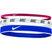 Pack de 3 Elastiques Nike Double Largeur Bleus