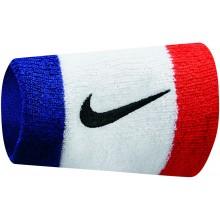Serre-Poignets Nike Swoosh Double Largeur Blancs
