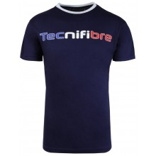 Tee-Shirt Tecnifibre Junior Garçon Cotton Marine