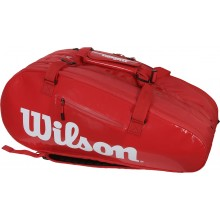 Sac de Tennis Wilson Super Tour Infrared 3 Comp Rouge