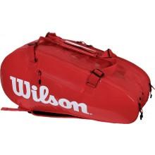 Sac de Tennis Wilson Super Tour Infrared 2 Comp Large Rouge