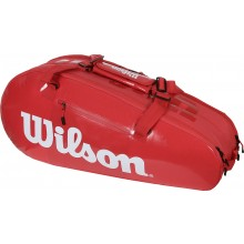 Sac de Tennis Wilson Super Tour Infrared 2 Comp Small Rouge