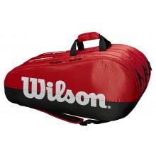 Sac de Tennis Wilson Team 3 Comp Rouge