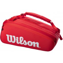 Sac Wilson Super Tour 15 Raquettes Rouge