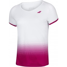 Tee-Shirt Babolat Junior Fille Compete Rouge