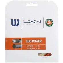 Cordage Wilson Duo Power Roland Garros - Luxilon Alu Power & Wilson NXT Power 1.25 (12.2m)