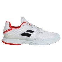 Chaussures Babolat Jet Mach II Terre Battue Blanches