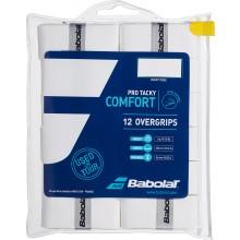 12 surgrips Babolat Pro Tacky Blanc