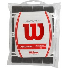 12 Surgrips Wilson Advantage Overgrip (Absorbent) Noirs