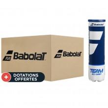 Carton de 18 Tubes de 4 Balles Babolat Team All Court