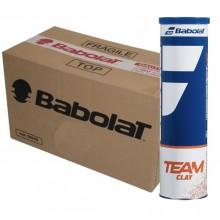 Carton De 18 Tubes De 4 Balles Babolat Team Clay